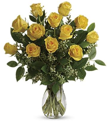 Sunny Yellow Roses